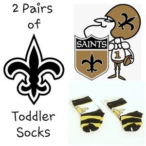 ⚜ 2 Pairs FBF Saints Rugby Block Socks for Toddler